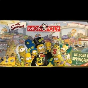 Monopoly The Simpsons Board Game Vintage - EUC